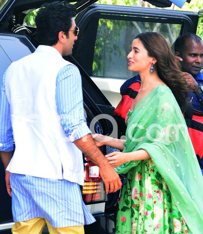 Ranbir Alia left for the event