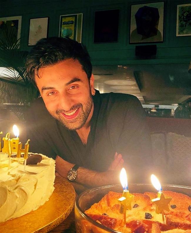 Ranbir Kapoor Celebrates His Birthday With Two Cakes