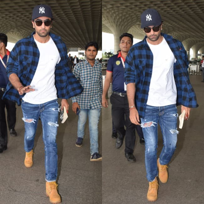 Ranbir looks stylish at the airport