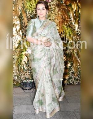 In PHOTOS: Sonam Kapoor-Malaika Arora-Rekha And Others Raise Hotness Quotient in Saree at Armaan Jain-Anissa Malhotra's Wedding Reception