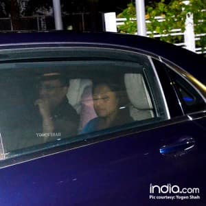 EXCLUSIVE: Rani Mukherji snapped with husband Aditya Chopra and Pamela Chopra for a dinner date!