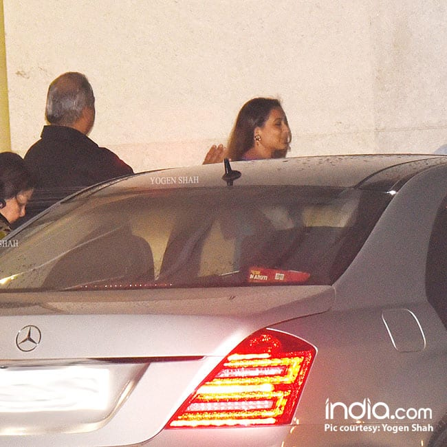 Rani Mukherji with husband Aditya Chopra and mother in law Pamela Chopra