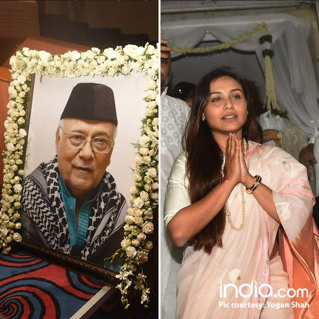 Rani Mukherji   s father   s prayer meet