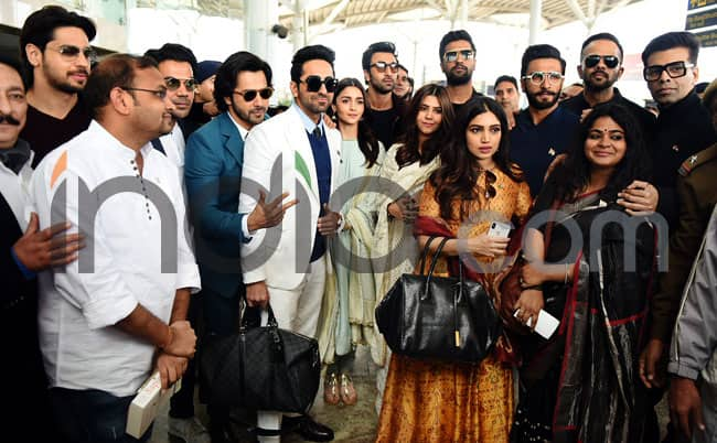 Ranveer Singh  Alia Bhatt  Ranbir Kapoor And Others Meet PM Modi in Delhi