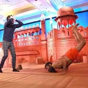 Not only with Ranveer Singh, here are incidents when Baba Ramdev showed his dynamic energetic moves!