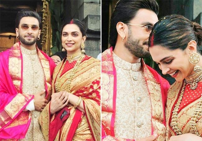 Ranveer Singh and Deepika Padukone wear Sabyasachi
