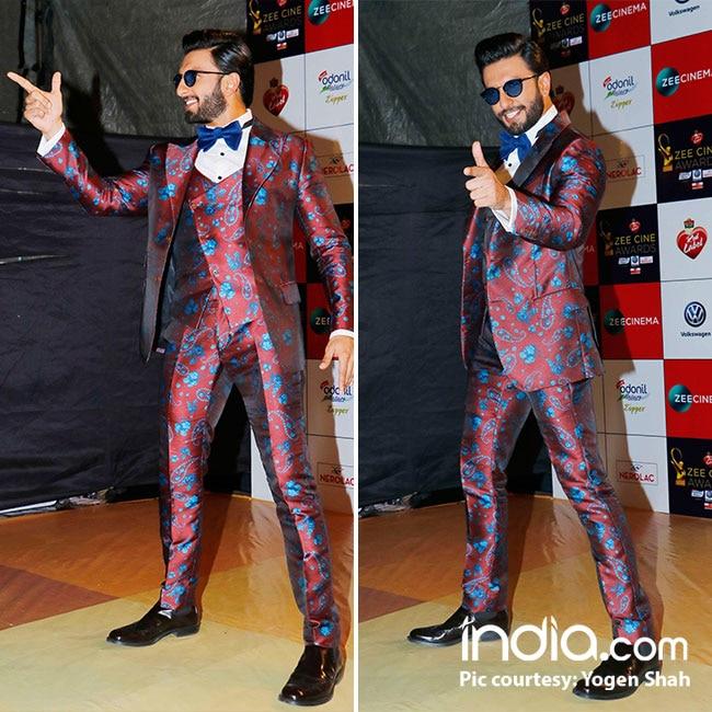 Ranveer Singh at red carpet of Zee Cine Awards 2018
