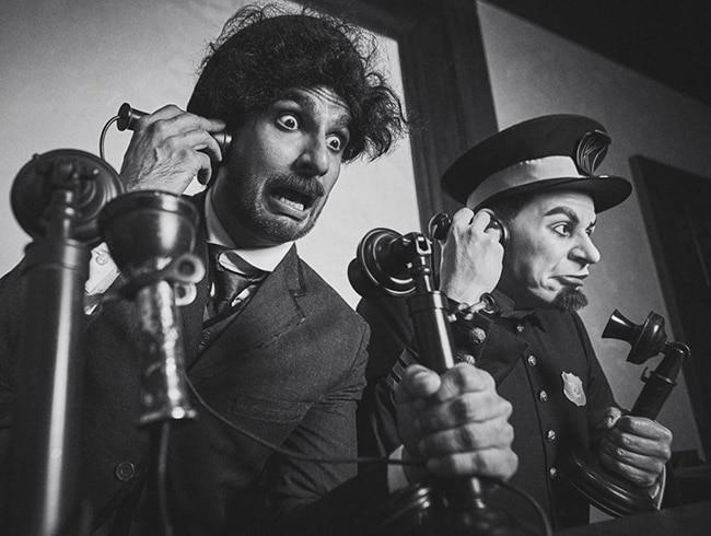 Ranveer Singh enacting Charlie Chaplin in Switzerland museum