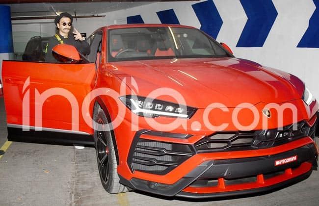 Ranveer Singh matches his look with his new red car