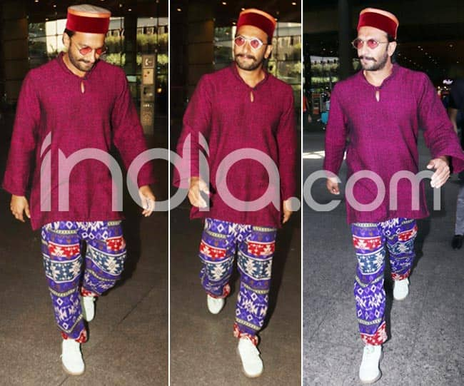 Ranveer Singh returns to Mumbai