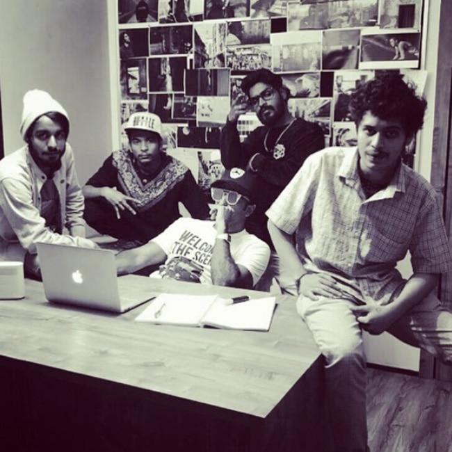 Ranveer Singh with his Gully Boys team