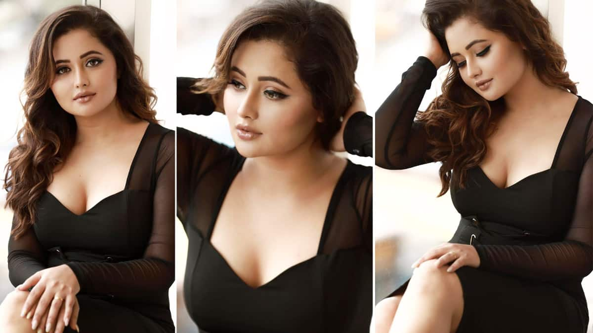Rashami Desai Shares Her Smoking Hot Pictures In Little Black Dress With Plunging Neckline