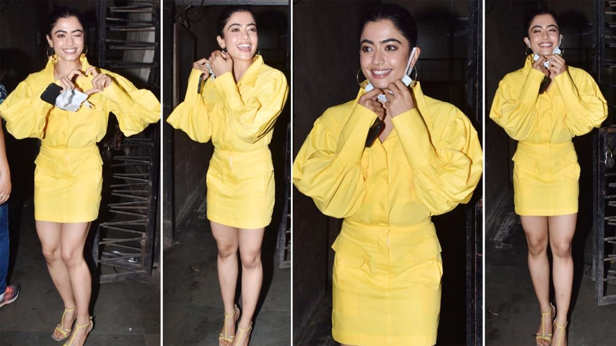 Rashmika Mandanna Looks Hot In Yellow