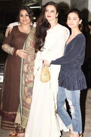Begum Jaan special screening: Vidya Balan, Rekha and Alia Bhatt bond during the screening, see pictures