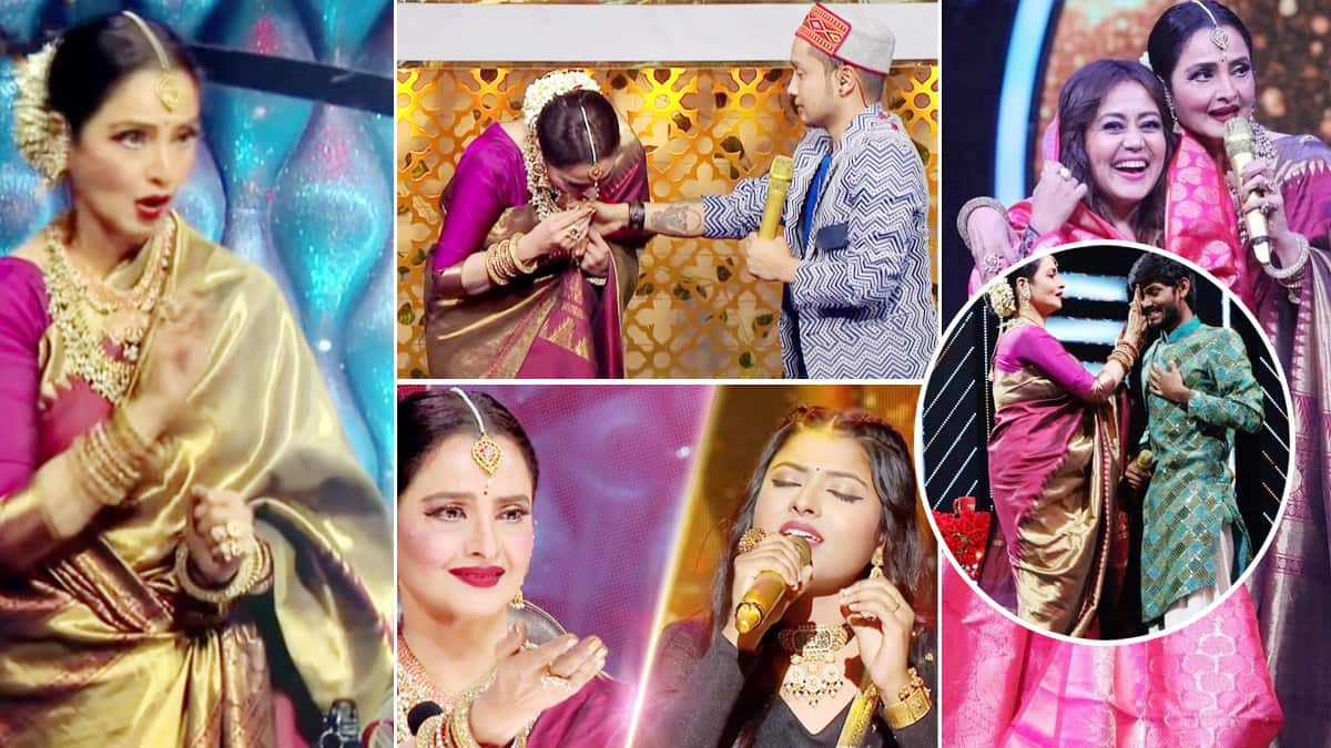 Rekha graces Indian Idol 12  Best moments from the show
