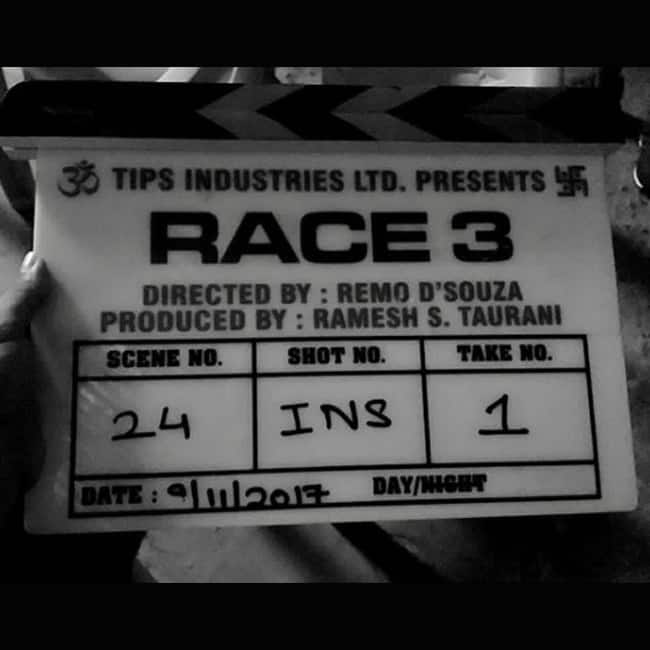 Remo D   souza on sets of Race 3