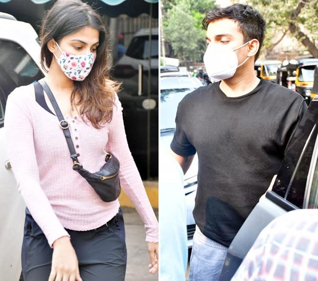 Rhea Chakraborty and Showik Chakraborty spotted at a gym