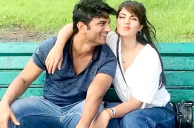 Rhea Chakraborty shared two pics from the happy moments with Sushant