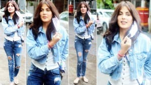 Rhea Chakraborty Slays In Her Denim Outfit As She Is Spotted By Paparazzo Days Ahead of Chehre Release | See Pics