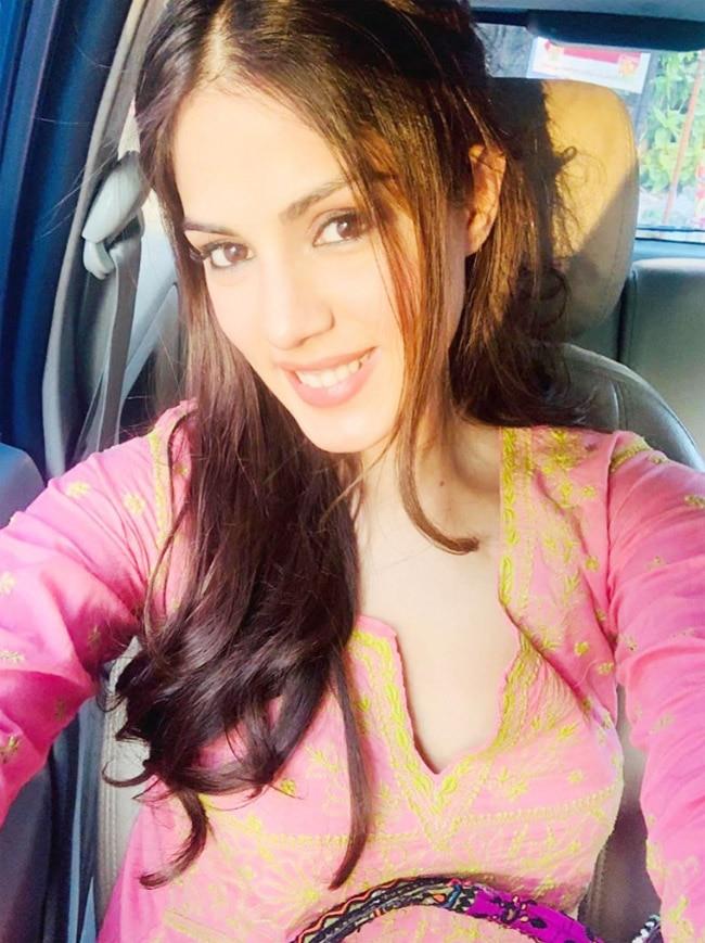 Rhea Chakraborty s rosy look