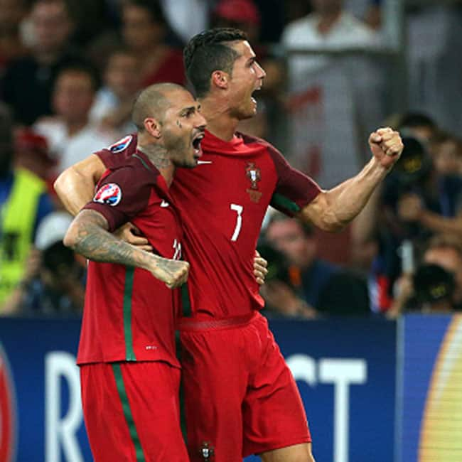 Ricardo Quaresma and Cristiano Ronaldo clicked during UEFA Euro 2016 Quarter finals