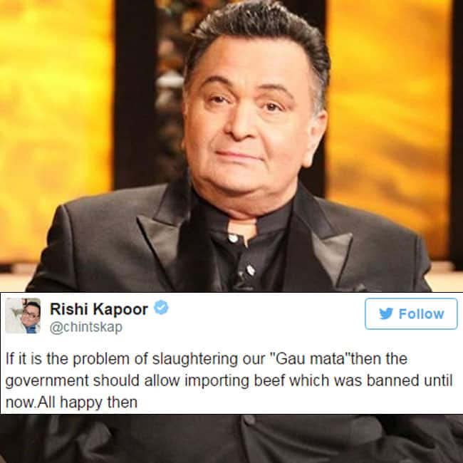 Rishi Kapoor   s tweet on Beef ban in Maharashtra
