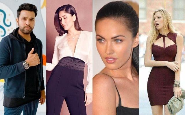 Rohit Sharma     Kareena Kapoor  Megan Fox and Blake Lively
