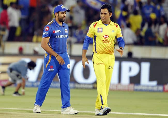 Rohit Sharma led Mumbai Won The Toss And Sent The MS Dhoni led Side to Field First