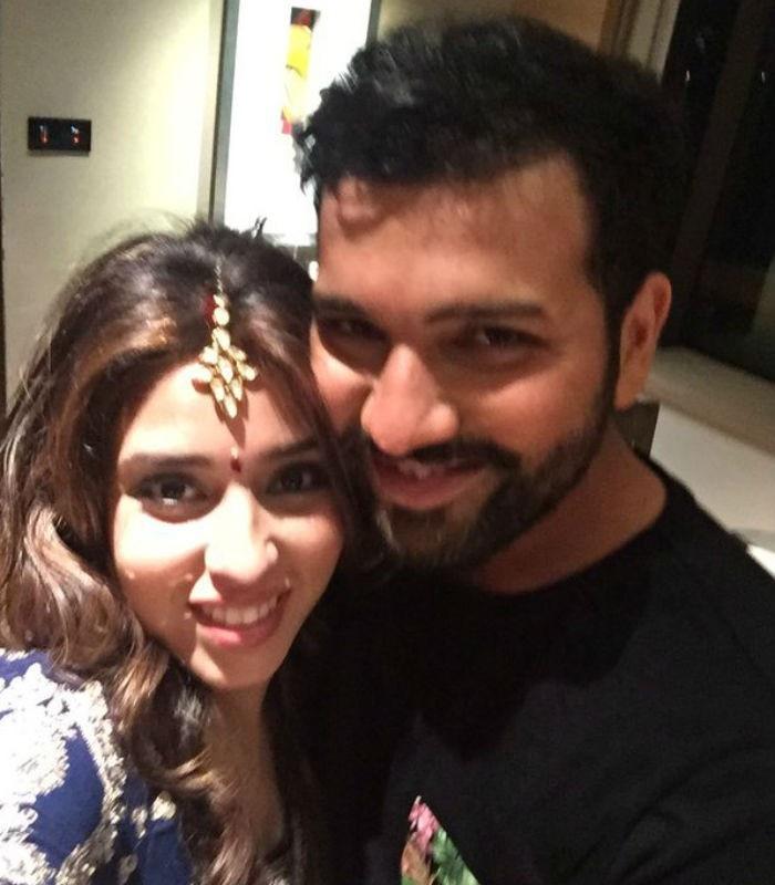 Rohit Sharma with wife Ritika Sajdeh