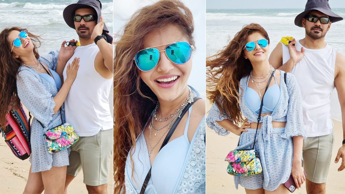 Rubina Dilaik and Abhinav Shukla have fun in Goa  Check out their latest beach y pictures