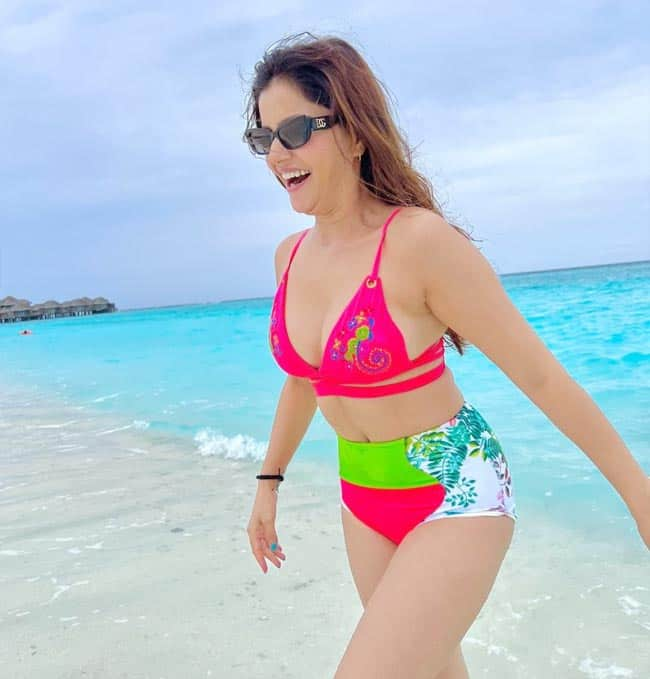 Rubina Dilaik took a short break from work to enjoy a holiday in the Maldives