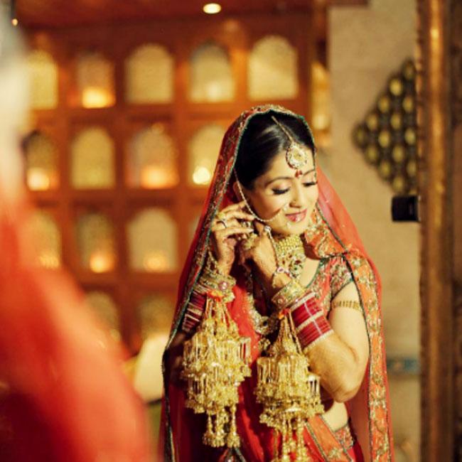 Rukmini Sahay as a bride on her D day