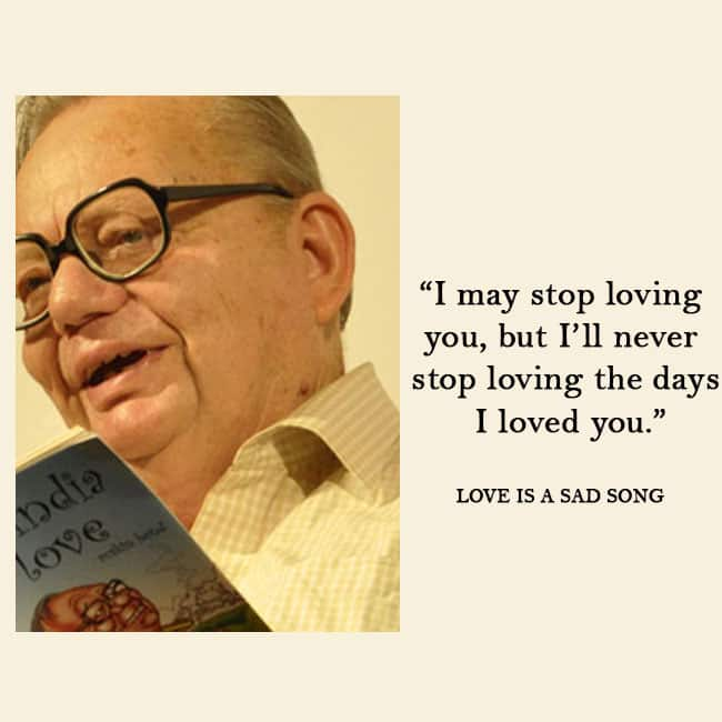 Ruskin Bond s quote from his story Love Is A Sad Song