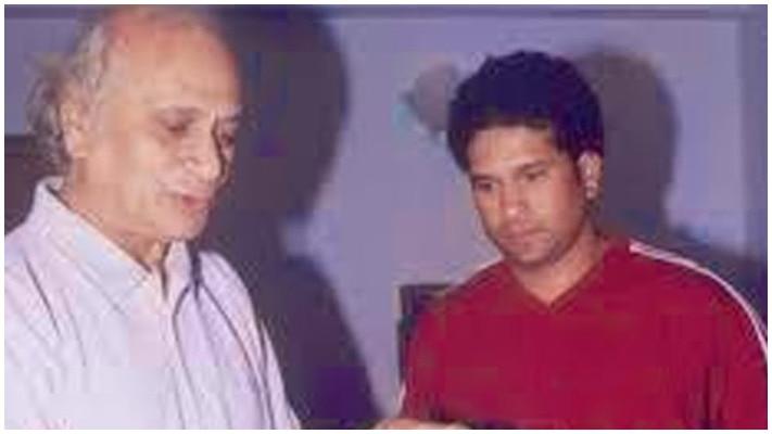 Sachin Tendulkar and His Father Ramesh Tendulkar