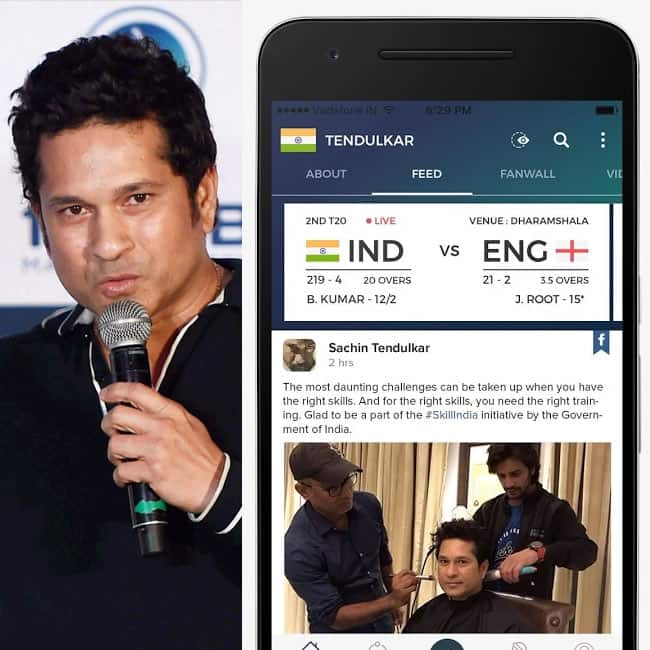 Sachin Tendulkar launched his app 100 MB