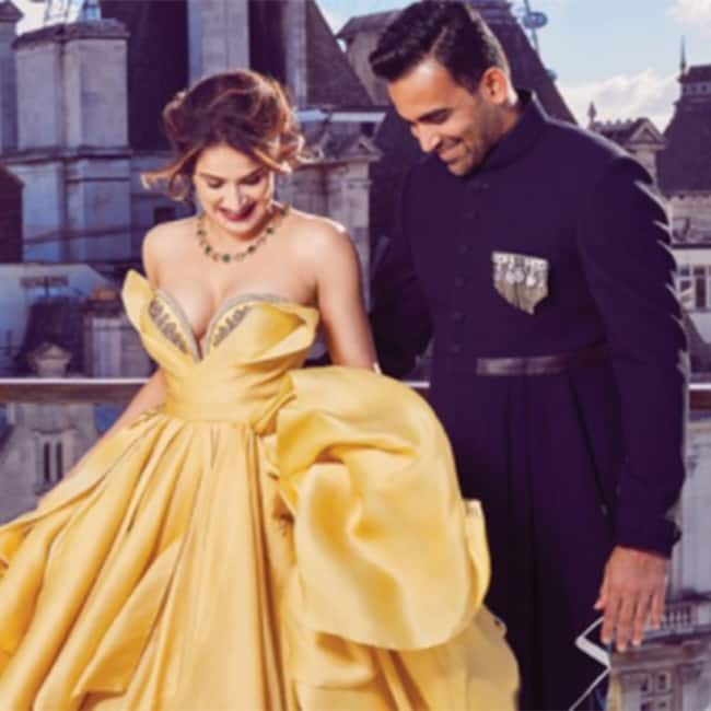 Sagarika Ghatge with Zaheer Khan during Harper   s Bazaar Bride shoot