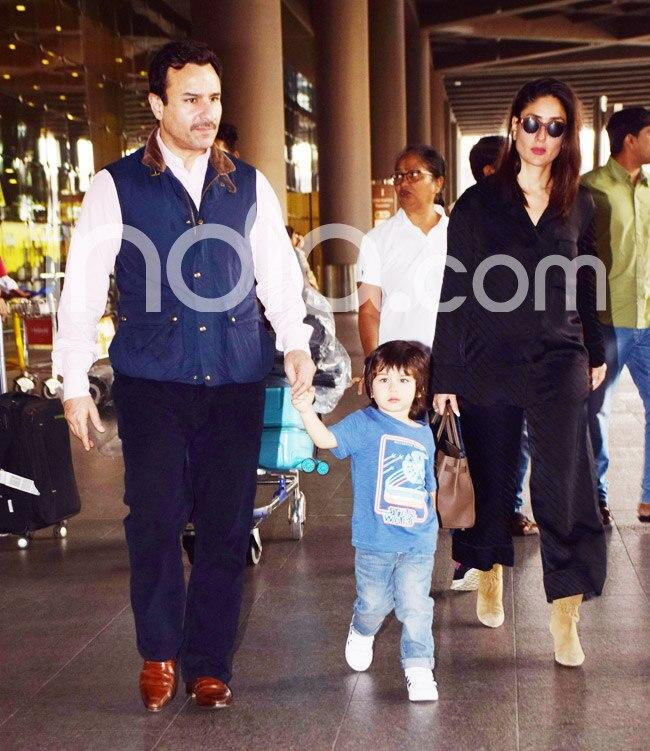 Saif Ali Khan returns with family