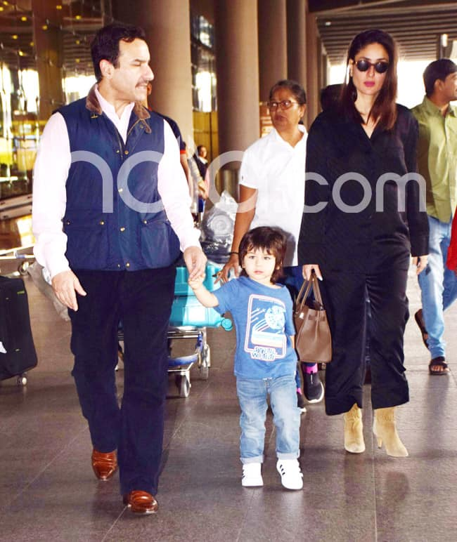 Saif and Kareena back to bay with Taimur
