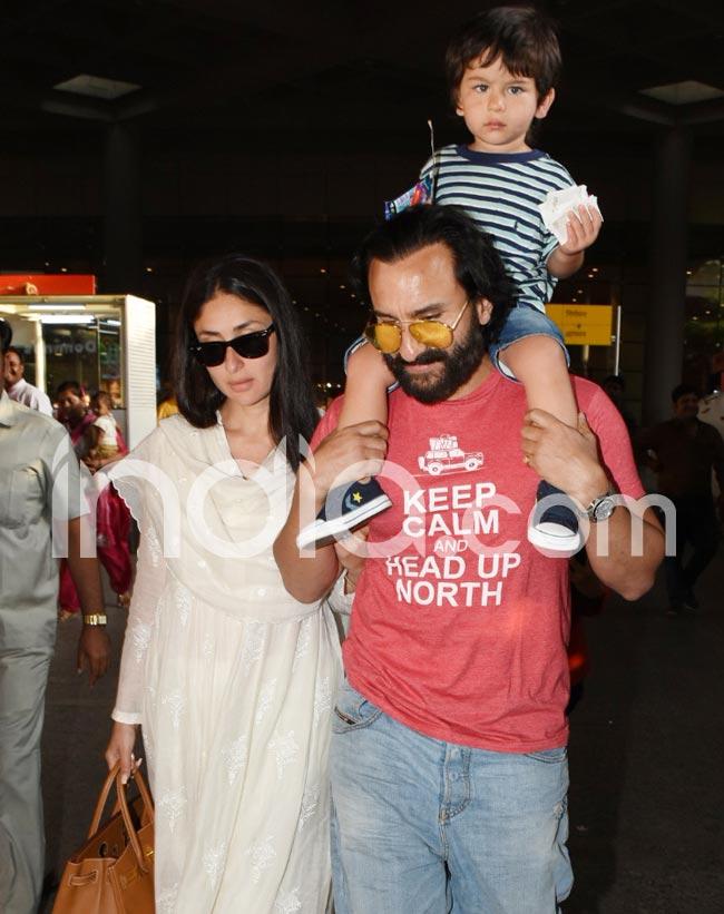 Saif  Kareena  Taimur spotted