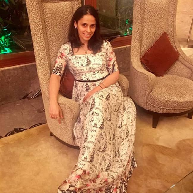 Saina Nehwal poses for a stylish picture