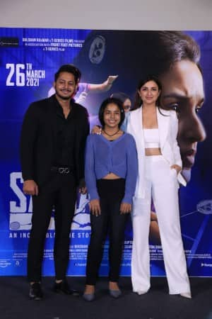 Saina Trailer Launch Photos: Parineeti Chopra Makes a Head Turning Appearance in White Power Suit