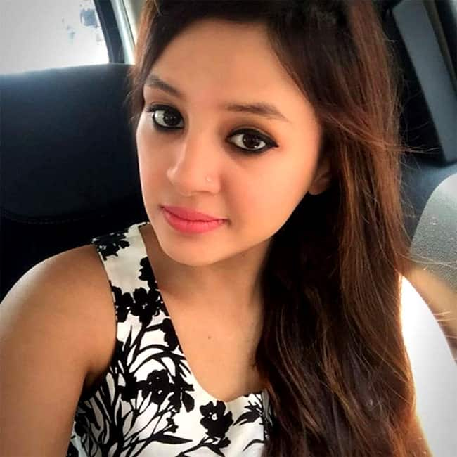 Sakshi poses for a beautiful selfie