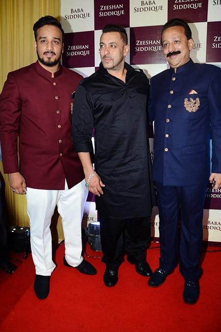 Salman Khan and Baba Siddiqui during Iftaar party