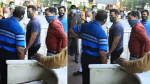 Salman Khan Spotted at Lilavati Hospital as He Takes His First Dose of COVID-19 Vaccine | SEE PHOTOS