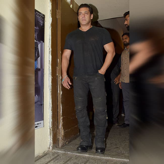 Salman Khan spotted at Race 3 special screening
