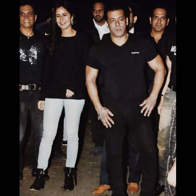 Salman Khan with Katrina Kaif outside his Panvel farmhouse