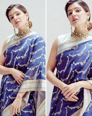 Samantha Ruth Prabhu Looks Etheral in Her Simple Raw Mango Saree at Wedding of Rana Daggubati And Miheeka Bajaj