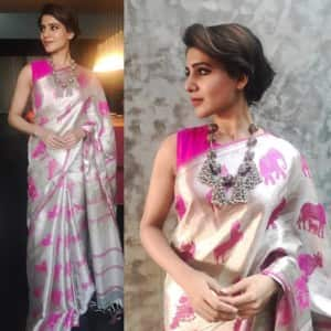 6 Instagram pictures of Samantha Ruth Prabhu which shows her never ending love for sarees!