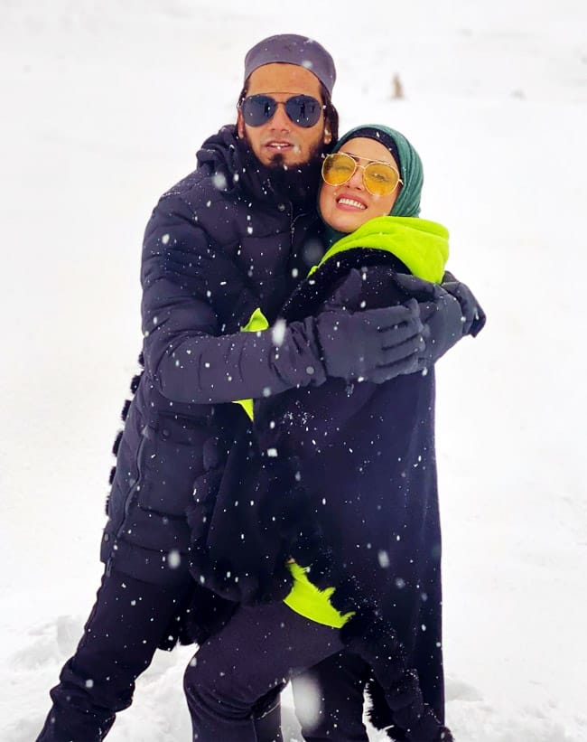 Sana Khan on a honeymoon in Srinagar