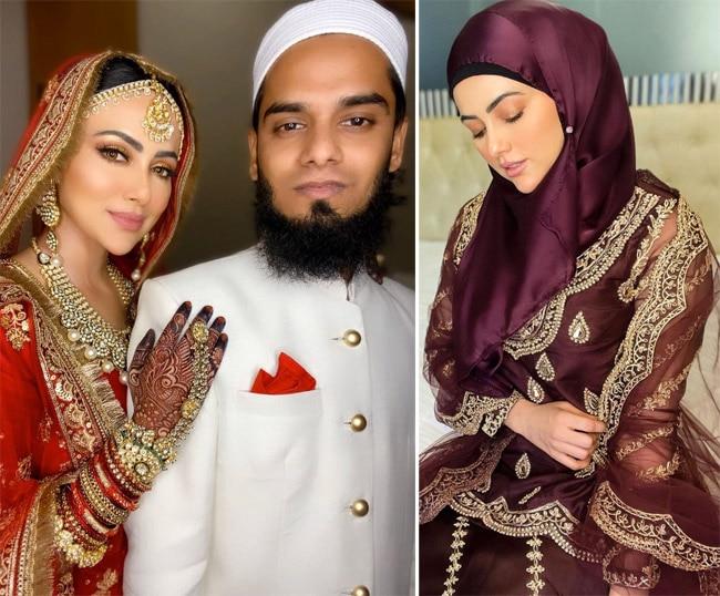 Sana Khan slammed an unnamed person for creating videos on her